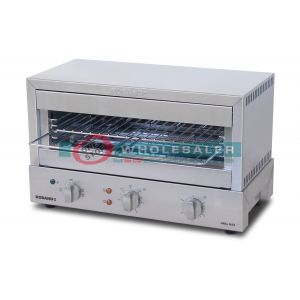 Roband GMX810G Grill Max Toaster 8 Slice, Glass Elements