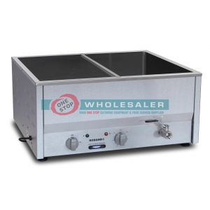 Roband BM4 Counter Top Bain Marie 4 x 1 / 2 size, pans not included